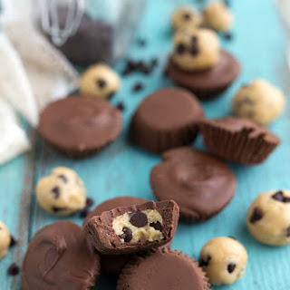 No-Bake Cookie Dough Chocolate Cups