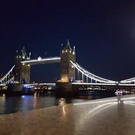 Towerbridge London by Gert de Vos - City,  Street & Park  Night