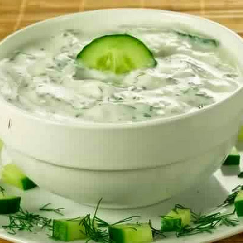 Cucumber Sauce With Herbs And Garlic