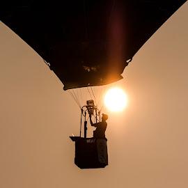 Sunset Hot Air Balloon by Patrick Barron - Transportation Other ( hot air balloon, sunset, battle creek, balloon, airshow )
