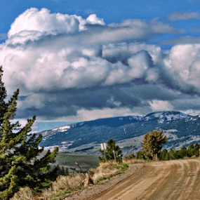 A View From The Top by Amada Gonzalez - Landscapes Mountains & Hills ( clouds, camping, travel, mountain road )