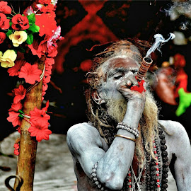 Sadhu. by Rajib Mitra - People Portraits of Men