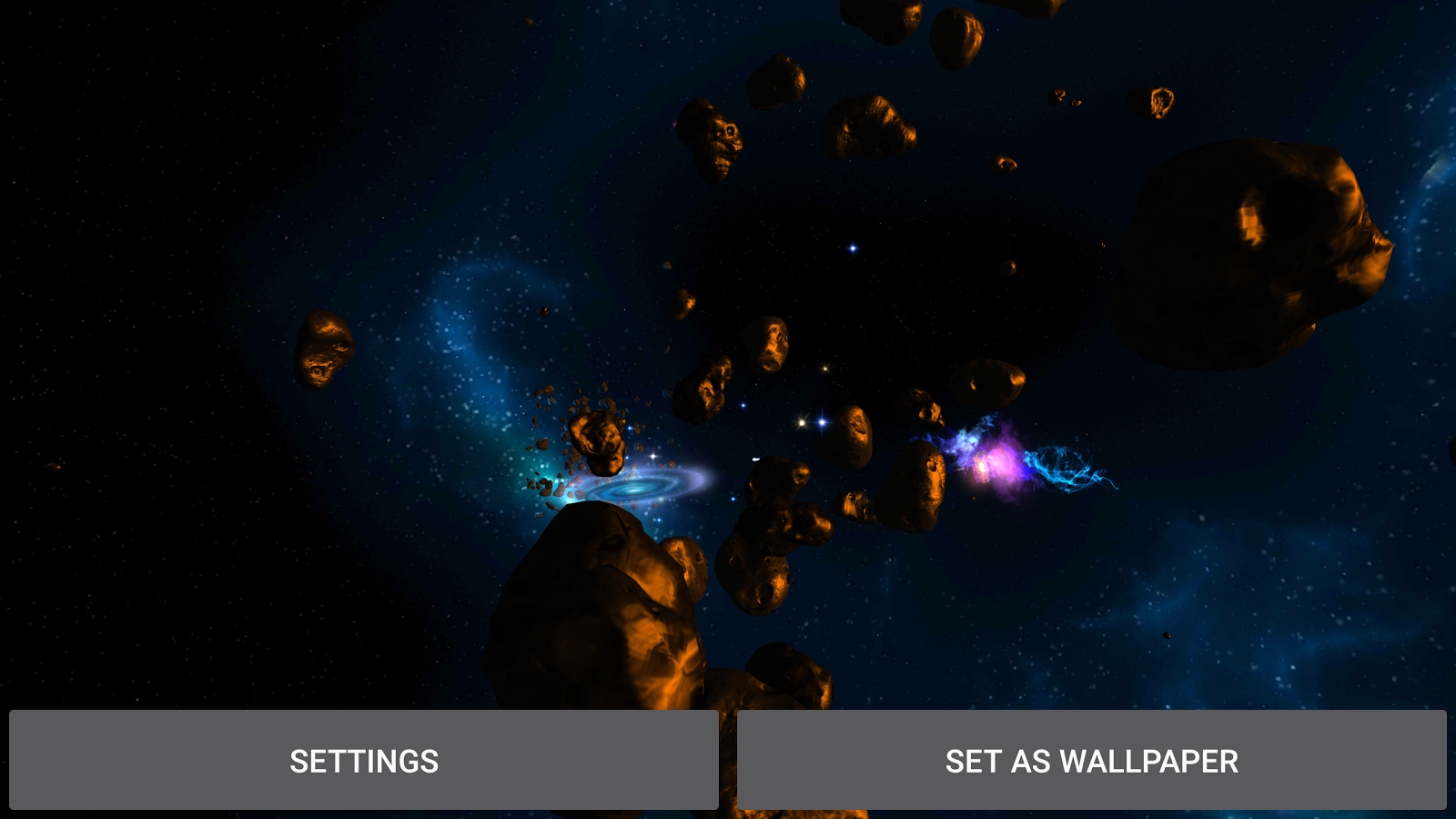3D Galaxies Exploration LWP Screenshot 14