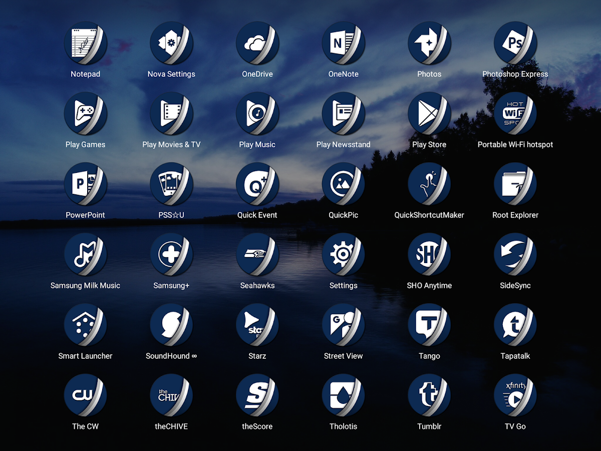 Naz Dal Blue - Icon Pack Screenshot 10