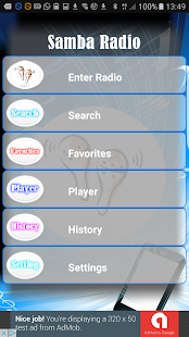 Radio Samba PRO+ - screenshot