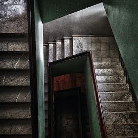 One way down by Hugo Silva - Instagram & Mobile iPhone ( instagram, stairs, perspective, iphone, mobile )