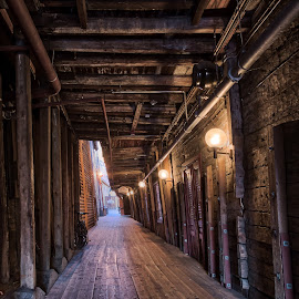 Inside Bryggen by Rob Menting - City,  Street & Park  Historic Districts ( canon, bergen, eos, noorwegen, europe, travel, city, canon eos 70d, norway )
