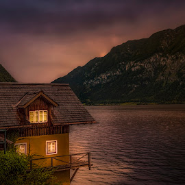 Home by the Lake by Ole Steffensen - Buildings & Architecture Homes ( home, lake, hallstatt, house, austria, hallstätter see )