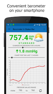 Barometer In Status Bar screenshot for Android
