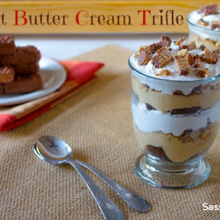 Peanut Butter Cream Brownie Trifle Recipe ? Girl Scout Cookie Lovers Unite!