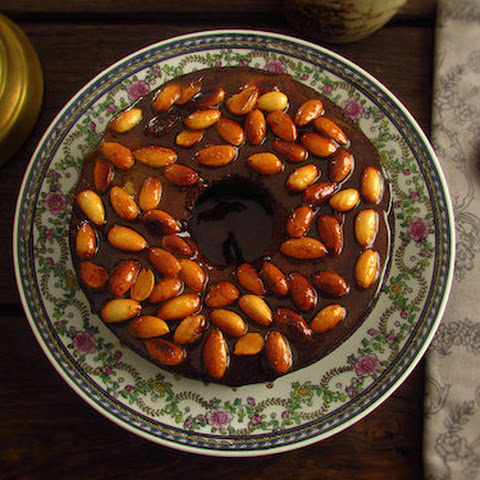 Banana Cake Topped With Caramelized Almond