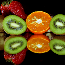 fruits on mirror by LADOCKi Elvira - Food & Drink Fruits & Vegetables ( fruits )