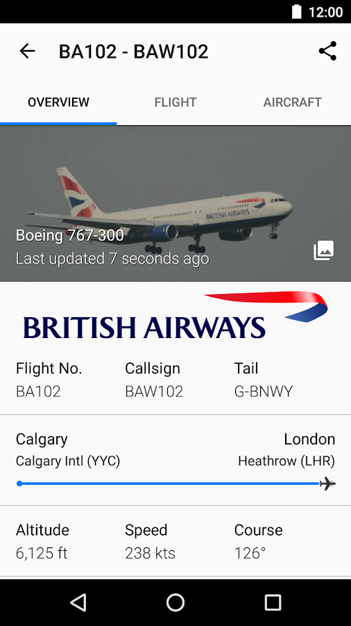 Plane Finder - Flight Tracker Screenshot 2