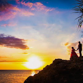 LOVE & SILHOUETTES by Arvin Tonogbanua - Wedding Bride & Groom ( love, engagement session, sunset, wedding, silhouette, silhouettes, bride and groom, landscape, prenup,  )