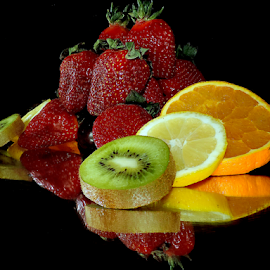 citrus with strawberry by LADOCKi Elvira - Food & Drink Fruits & Vegetables ( fruits, lemon )