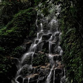 Kadap Waterfall by Yosh Ginsu - Landscapes Waterscapes