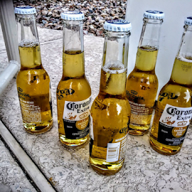 Drink Me by Carlo McCoy - Food & Drink Alcohol & Drinks ( coronita, outdoors, relaxing, bottles, liquor, drink, beer )