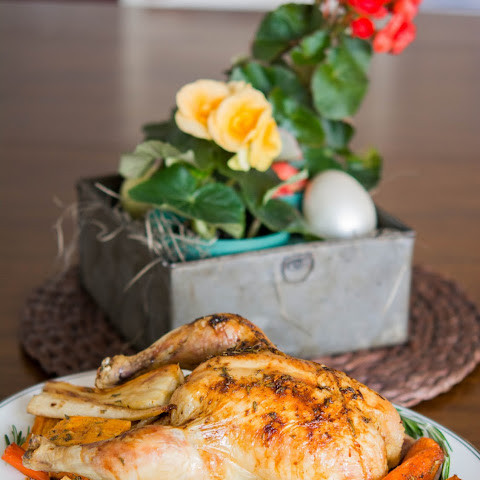 Roasted Lemon and Rosemary Chicken with Root Vegetables