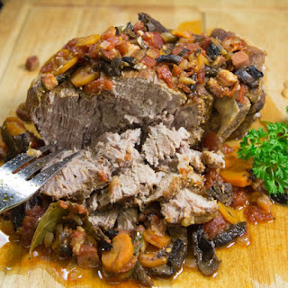 Pork Roast with Mushroom Tomato Gravy