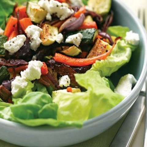 Oven-Baked Vegetable and Cheese Salad