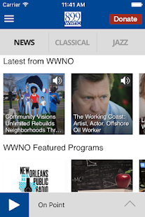 WWNO Public Radio App - screenshot