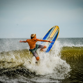 Wave Rider by Prentiss Findlay - Sports & Fitness Surfing ( surfing, surfer, surfboard, surf, surfing wave )