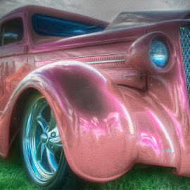 by Chris Cavallo - Digital Art Things ( car, maine, automobile, pink, car show, hot rod )