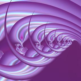 Purple wave by Cassy 67 - Illustration Abstract & Patterns ( purple, waves, swirl, spiral, digital, love, fractal art, digital art, power, harmony, fractal, light, fractals, energy )