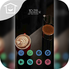 Beautiful black coffee theme