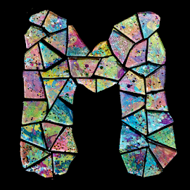Mosaic M by Janna Morrison - Typography Single Letters
