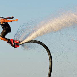 FlyBoarder by Jeannette Thalmann-Bendeth - Sports & Fitness Watersports ( sws, sparrow lake, flyboard, lake )