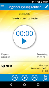 Cycling Workout Fitness app screenshot for Android