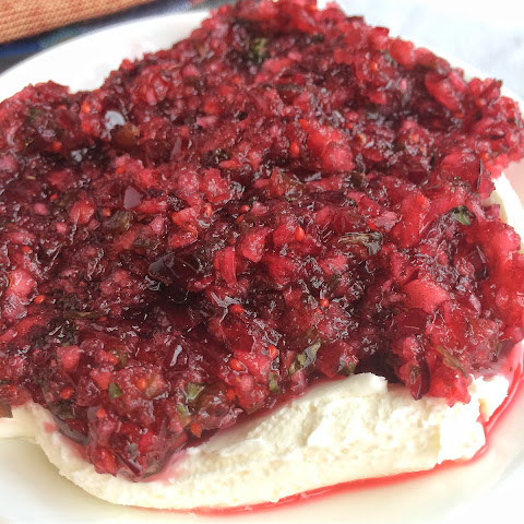Cranberry-Jalapeno Cream Cheese Salsa Dip