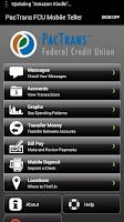 Screenshot of PacTrans FCU Mobile Teller