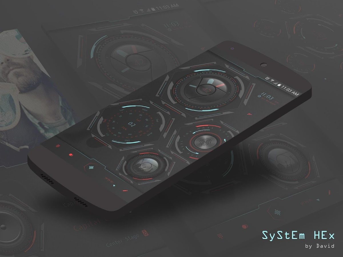 SyStEm HEx for KLWP Screenshot 2