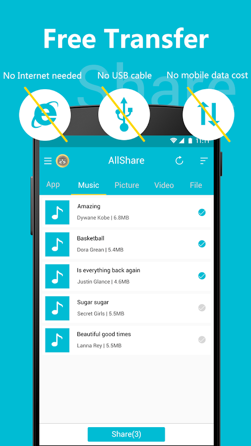 All Share - Apps&File Transfer Screenshot 1