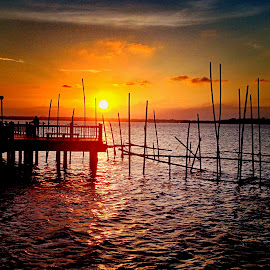 sunset at Changi by Janette Ho - Instagram & Mobile iPhone ( relax, tranquil, relaxing, tranquility,  )