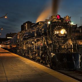 Old Number 261 by Peter Stratmoen - Transportation Trains ( steam locomotive, vintage, railroad, trains,  )