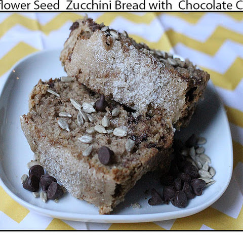 Sunflower Seed Zucchini Bread with Chocolate Chips