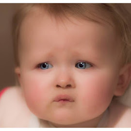 Inquisitive by Stevie Toye - Babies & Children Children Candids ( curiosity, baby girl, blue eyes, innocence, natural )