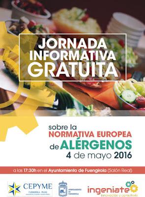 Jornada sobre normativa europea de alérgenos