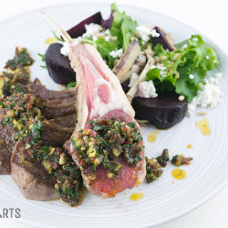 Roasted Rack of Lamb with Sundried Tomato Pesto