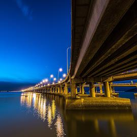 Blue hour@Penang Bridge by Lim Keng - Buildings & Architecture Bridges & Suspended Structures