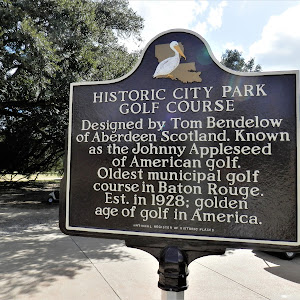 Designed by Tom Bendelow of Aberdeen Scotland. Known as the Johnny Appleseed of American Golf. Oldest municipal golf course in Baton Rouge. Est. in 1928; golden age of golf in America.