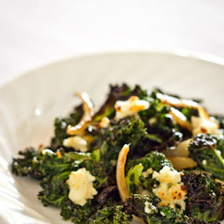 Roasted Kale with Crumbled Feta
