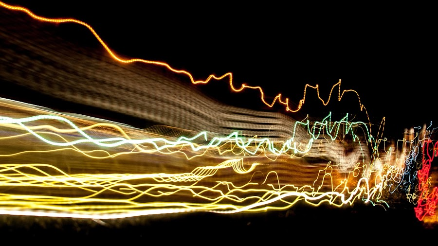 Traffic light painting 9 by Hirian Raul - Abstract Light Painting ( exposure, ray, red, trace, night, long, painting, light )