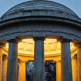 DC World War I Memorial by Hugh Clarke - Buildings & Architecture Statues & Monuments ( dc war memorial, igdc, winter solace, winterstorm jonas, clarke photo studios, acreative dc, winter, snow, blizzard 2016, hugh a clarke 2016, sony photo, snow day, sony a7s, january 2016, fotodc )