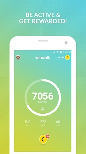 winwalk - walk & win rewards Fitness app screenshot 1 for Android