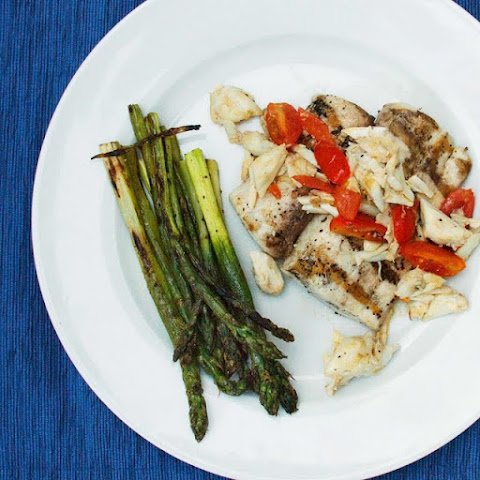 Grilled Mahi-Mahi with Jumbo Lump Crab meat