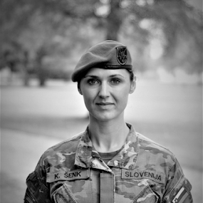 Female soldier by Luka Mitrović - People Portraits of Women ( army, proud, soldier, military,  )